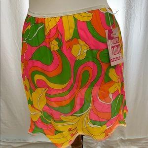 Rare Vintage Psychedelic Slip/Skirt & Panties NWT